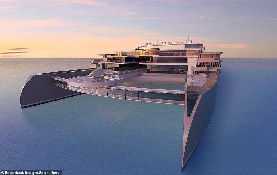Beiderbeck Designs estimated the cost of the super yacht to be around £450billion